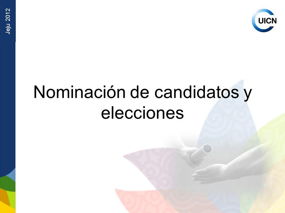 Jeju 2012 Nominación de candidatos y elecciones