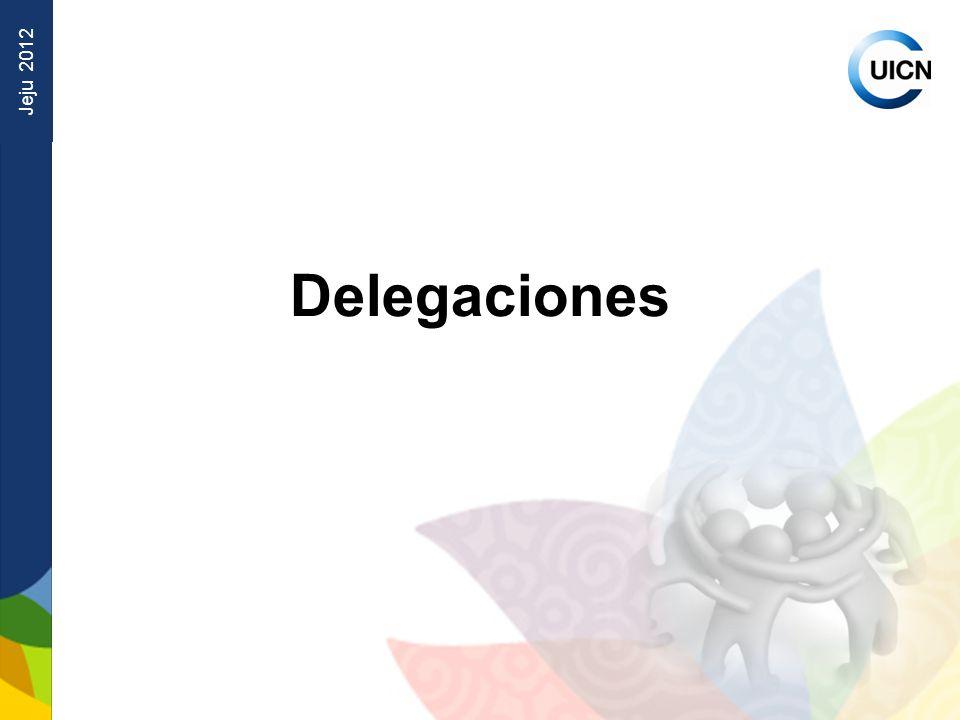 Jeju 2012 Delegaciones