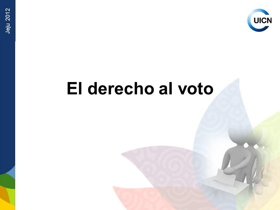 Jeju 2012 El derecho al voto