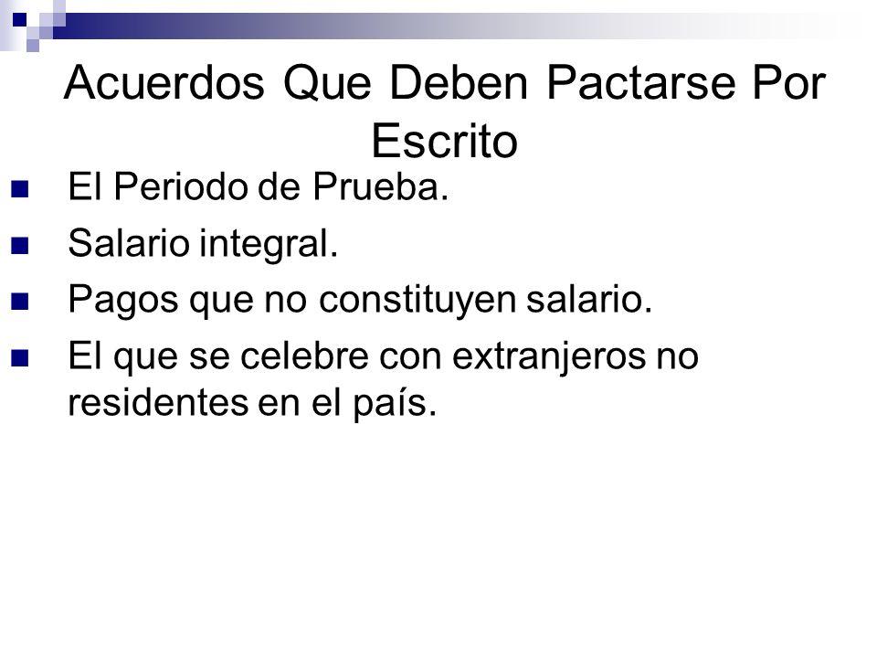 Contrato Escrito Formalidades.El contrato de trabajo escrito se extiende en dos ejemplares.