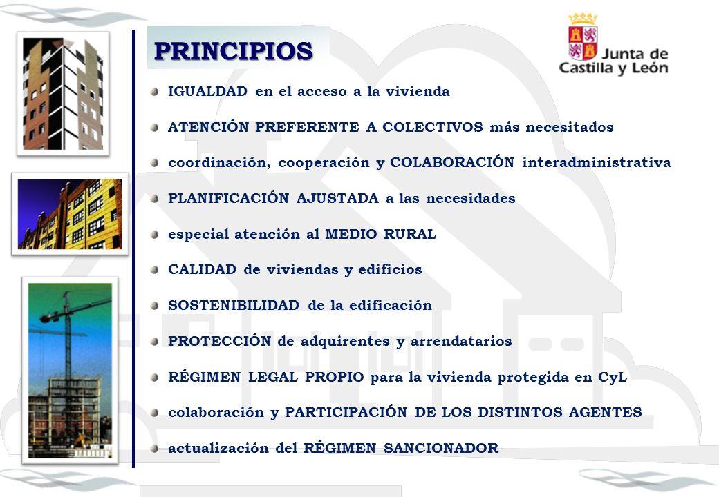 PRINCIPIOS IGUALDAD en el acceso a la vivienda ATENCIÓN PREFERENTE A COLECTIVOS más necesitados coordinación, cooperación y COLABORACIÓN interadminist