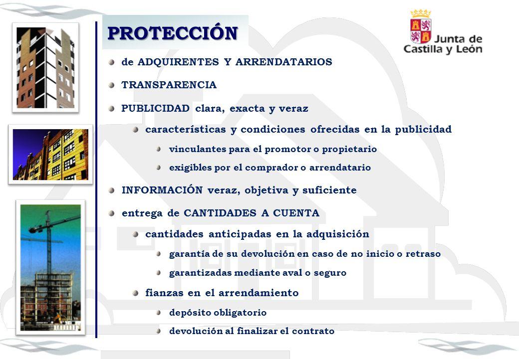 PROTECCIÓN de ADQUIRENTES Y ARRENDATARIOS TRANSPARENCIA PUBLICIDAD clara, exacta y veraz características y condiciones ofrecidas en la publicidad vinc
