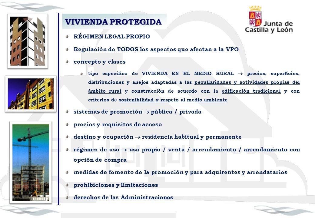 VIVIENDA PROTEGIDA RÉGIMEN LEGAL PROPIO Regulación de TODOS los aspectos que afectan a la VPO concepto y clases tipo específico de VIVIENDA EN EL MEDI