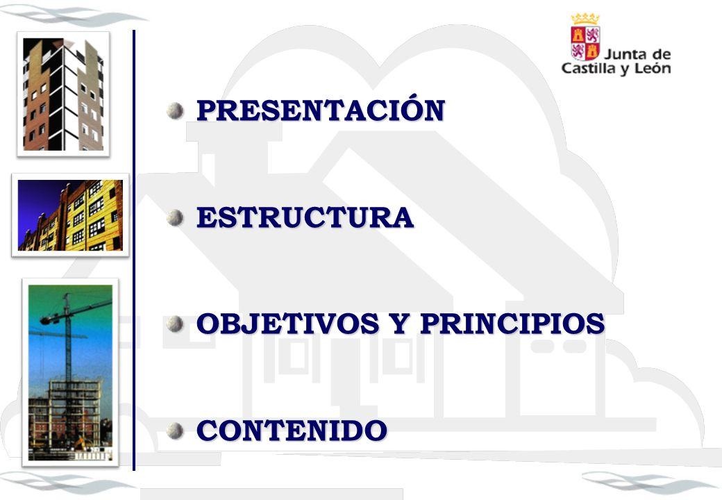 PRESENTACIÓN PRESENTACIÓN ESTRUCTURA ESTRUCTURA OBJETIVOS Y PRINCIPIOS OBJETIVOS Y PRINCIPIOS CONTENIDO CONTENIDO
