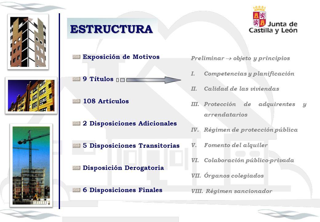 Exposición de Motivos 9 Títulos 108 Artículos 2 Disposiciones Adicionales 5 Disposiciones Transitorias Disposición Derogatoria 6 Disposiciones Finales
