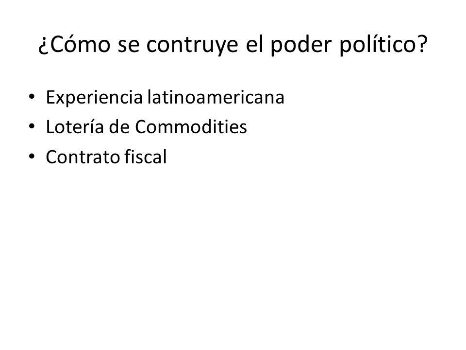 ¿Cómo se contruye el poder político.