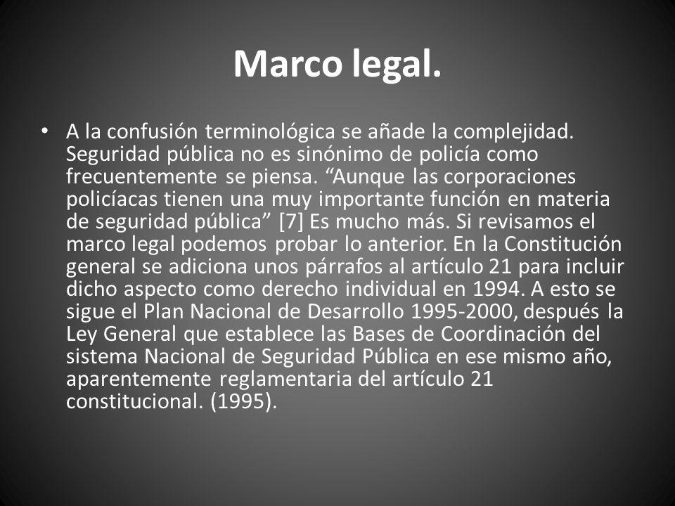Posteriormente se daría la criticada Ley de Delincuencia Organizada en 1996.