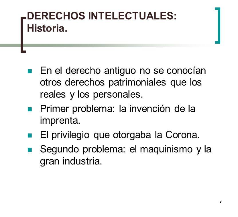 9 DERECHOS INTELECTUALES: Historia.