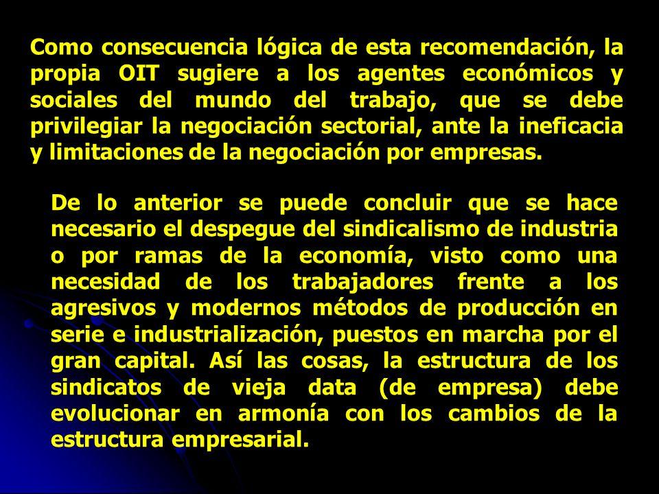 El Dr. Juan Somavía, al presentar las recomendaciones de la OIT para el Decenio (Lima 1999), señaló: «En el mundo cambiante de hoy en día, la negociac