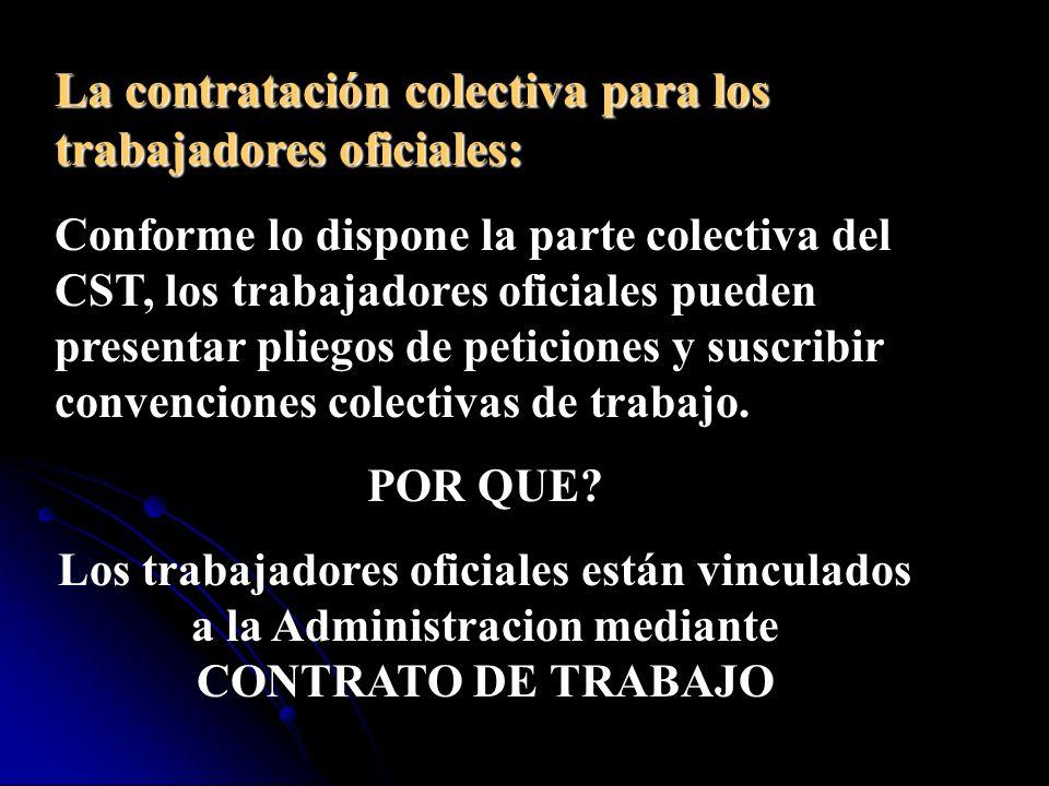 La misma norma señala que las personas que prestan sus servicios en las empresas industriales y comerciales del Estado son trabajadores oficiales.