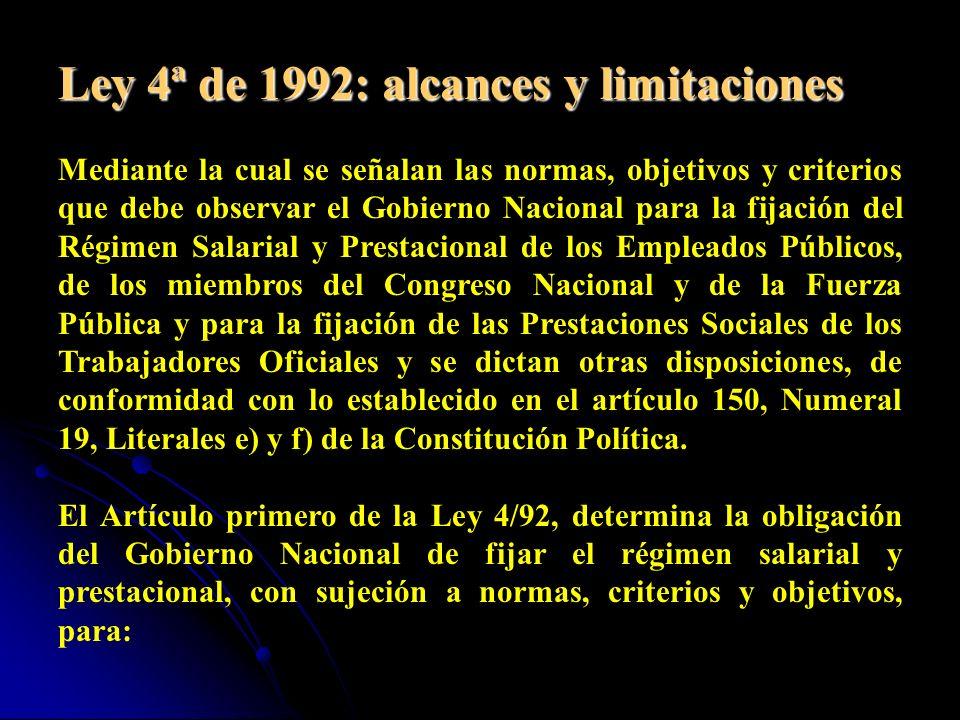 En el marco de la Constitución de 1991, otras son las disposiciones con respecto a las competencias para establecer el régimen salarial y prestacional de servidores públicos.