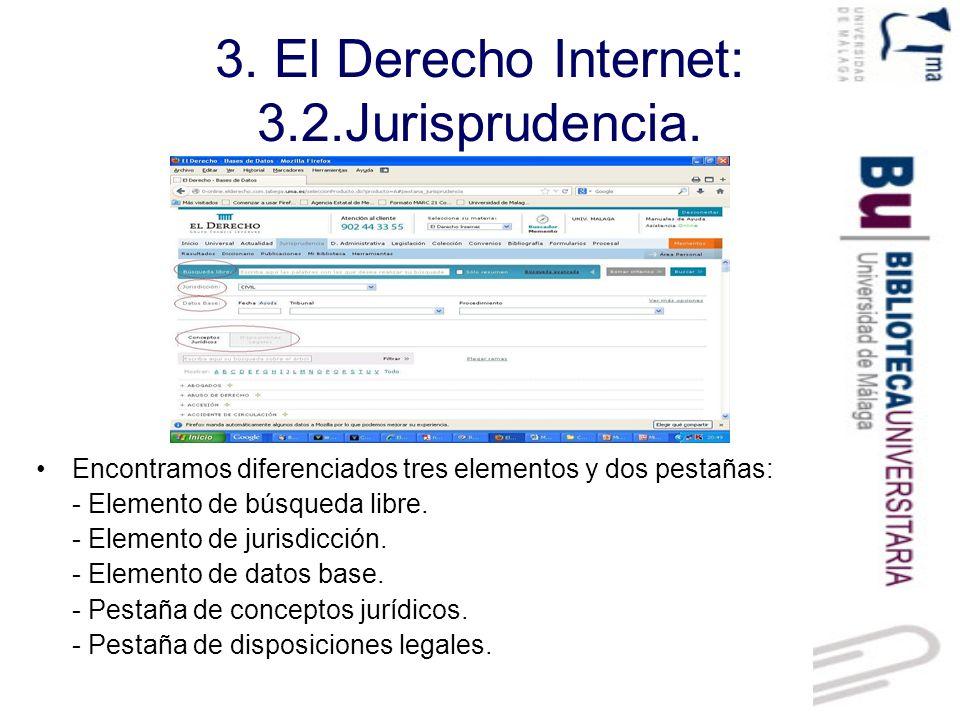 3.El Derecho Internet: 3.2.Jurisprudencia. Búsqueda libre.