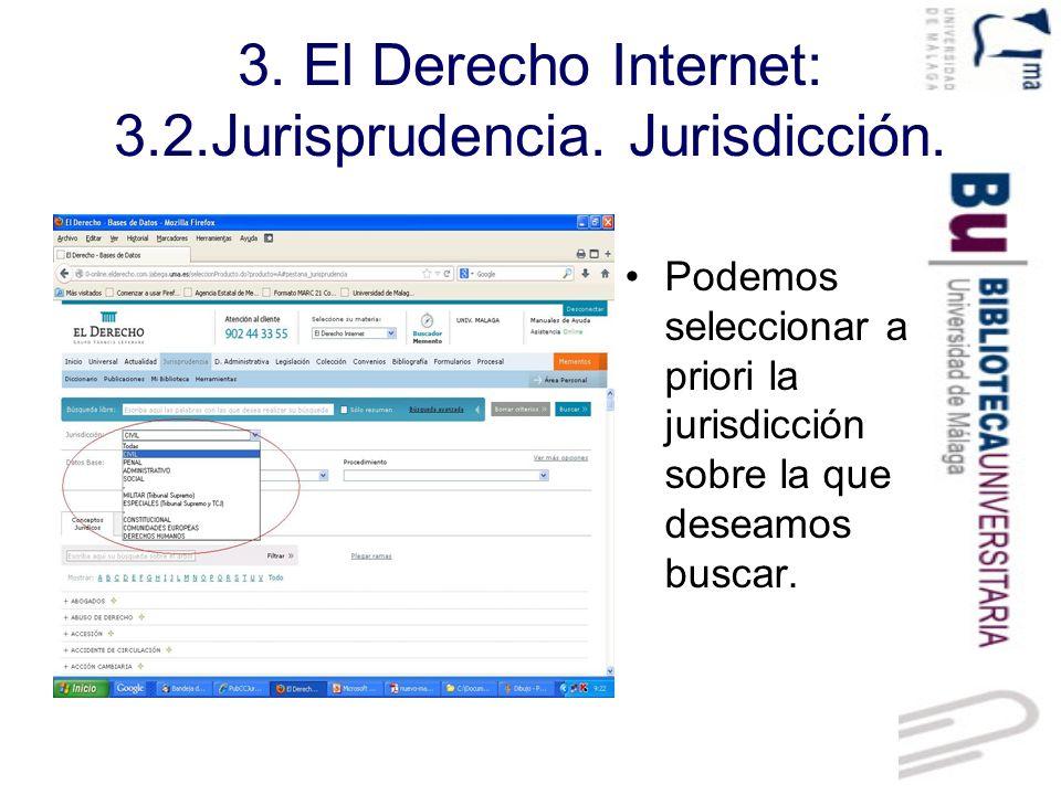 3.El Derecho Internet: 3.2.Jurisprudencia. Datos base.