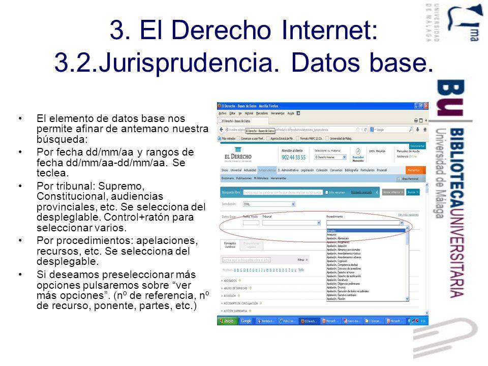 3.El Derecho Internet: 3.2.Jurisprudencia. Conceptos jurídicos.