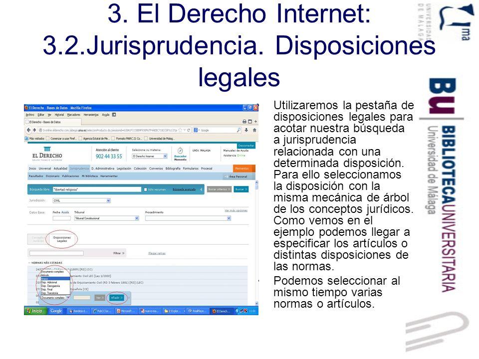 3.El Derecho Internet: 3.2.Jurisprudencia. Ejemplo de búsqueda.