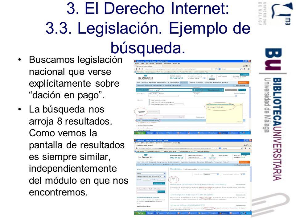 3.El Derecho Internet: 3.3. Legislación. Visualización de documento.