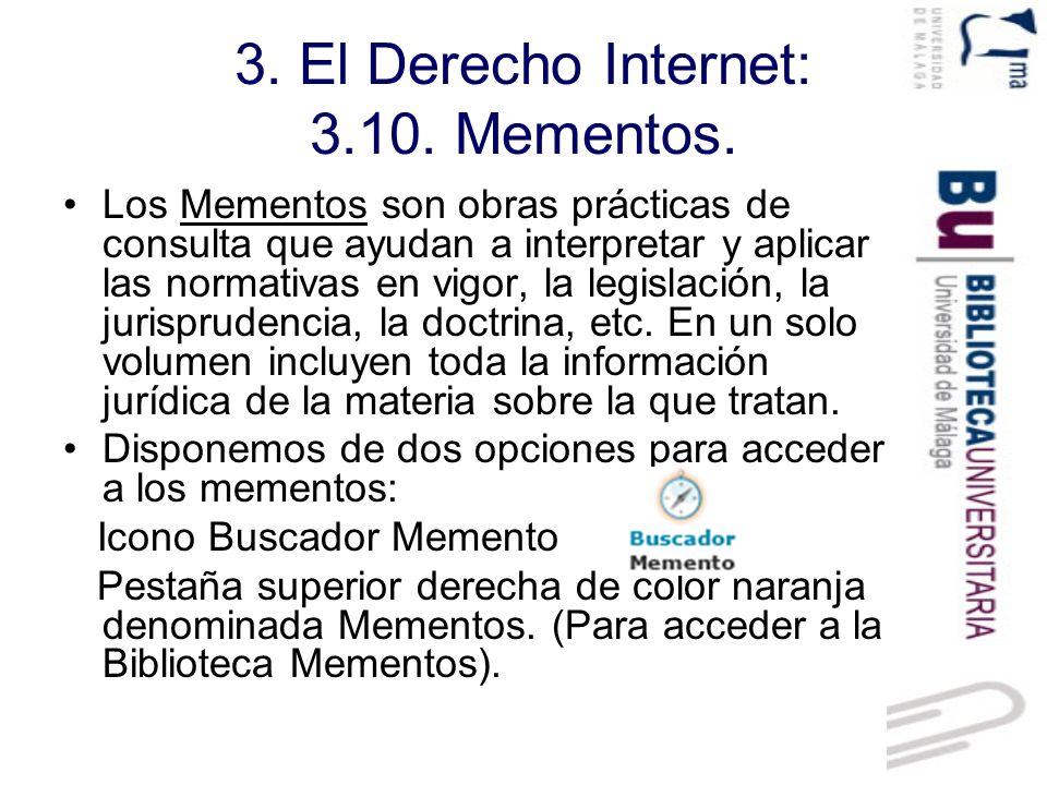 3.El Derecho Internet: 3.10. Mementos. Buscador Mementos.