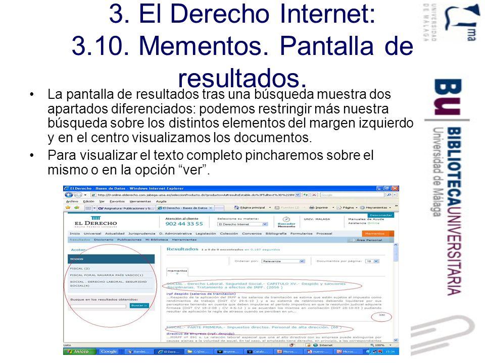 3.El Derecho Internet: 3.10. Mementos. Visualización de un memento.