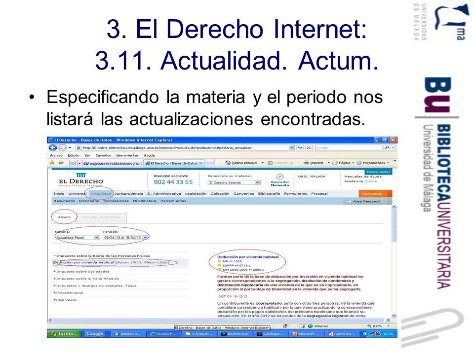 3.El Derecho Internet: 3.11. Actualidad. Artículos doctrinales.