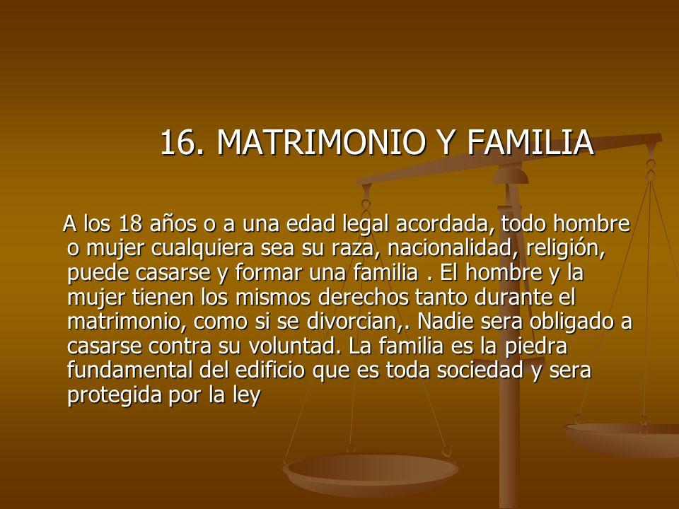 16.MATRIMONIO Y FAMILIA 16.