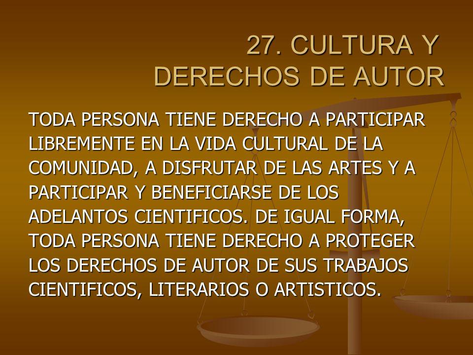 27.CULTURA Y DERECHOS DE AUTOR 27.