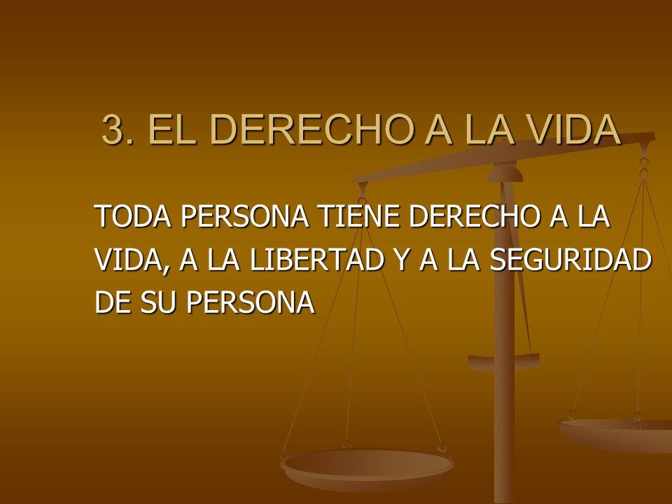 3.EL DERECHO A LA VIDA 3.