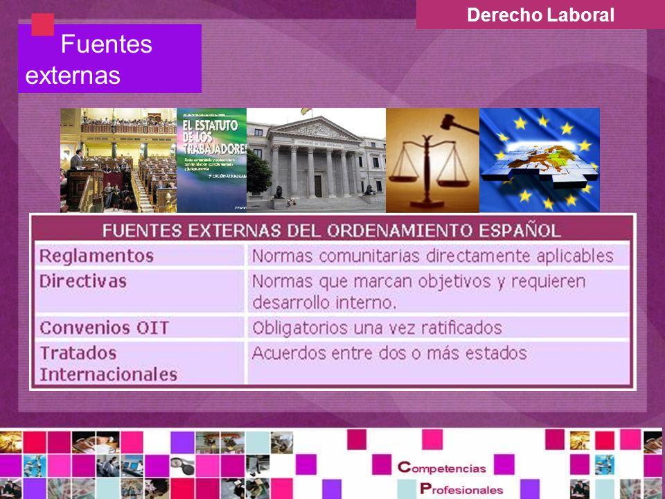 Derecho Laboral Fuentes externas