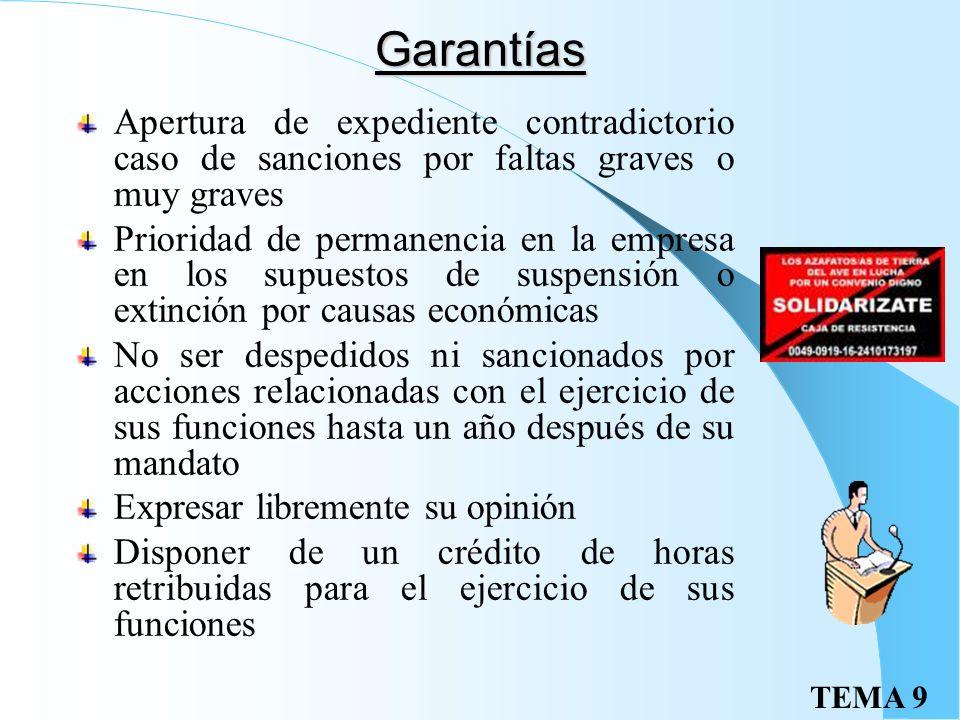 TEMA 9Competencias Recibir información sobre la evolución del sector económico de la empresa, producción, empleo, absentismo, sanciones, seguridad e h