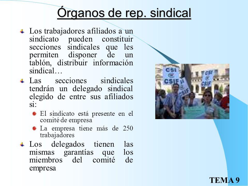 TEMA 9Garantías Apertura de expediente contradictorio caso de sanciones por faltas graves o muy graves Prioridad de permanencia en la empresa en los s