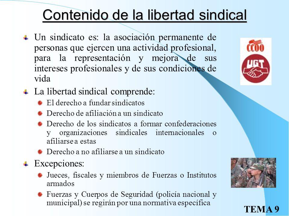 El derecho de sindicación La CE establece que todos los ciudadanos tienen derecho a sindicarse libremente art 28 CE, recogiendo en el art. 7 la import