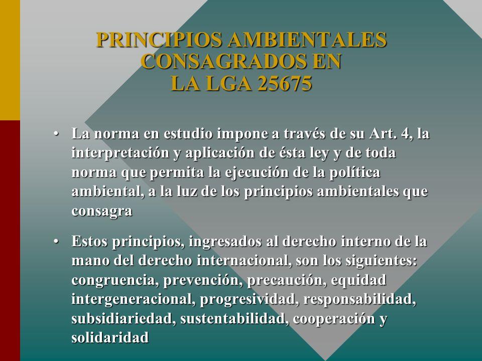 La norma en estudio impone a través de su Art. 4, la interpretación y aplicación de ésta ley y de toda norma que permita la ejecución de la política a