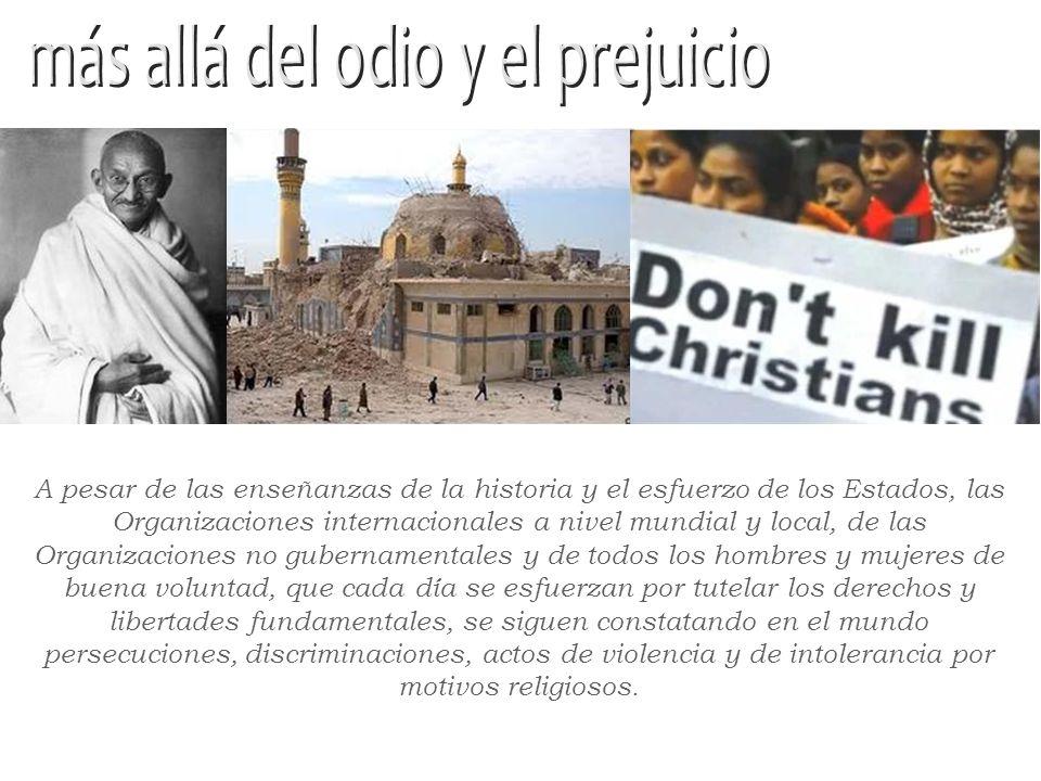 La política y la diplomacia deberían contemplar el patrimonio moral y espiritual que ofrecen las grandes religiones del mundo, para reconocer y afirma