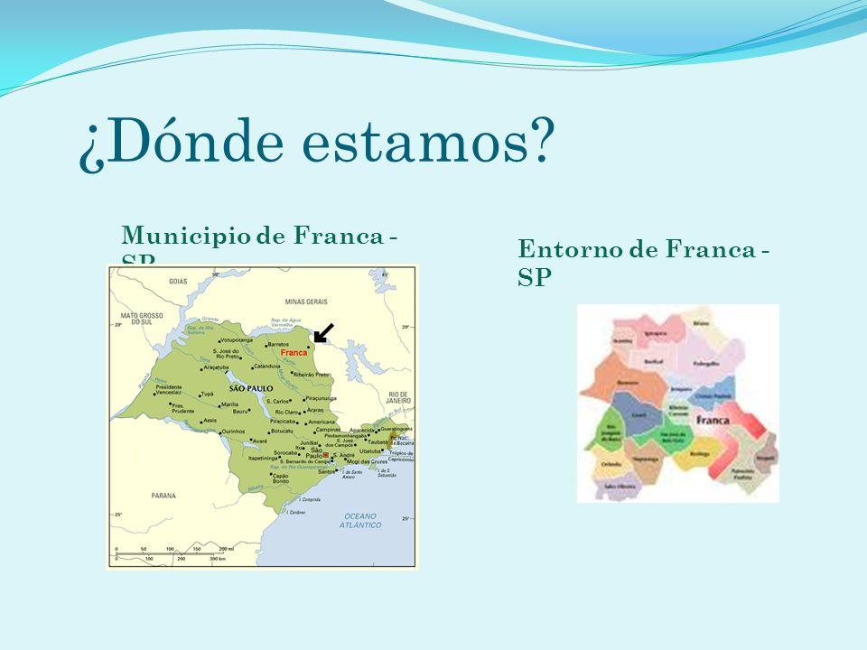 ¿ Dónde estamos? Municipio de Franca - SP Entorno de Franca - SP
