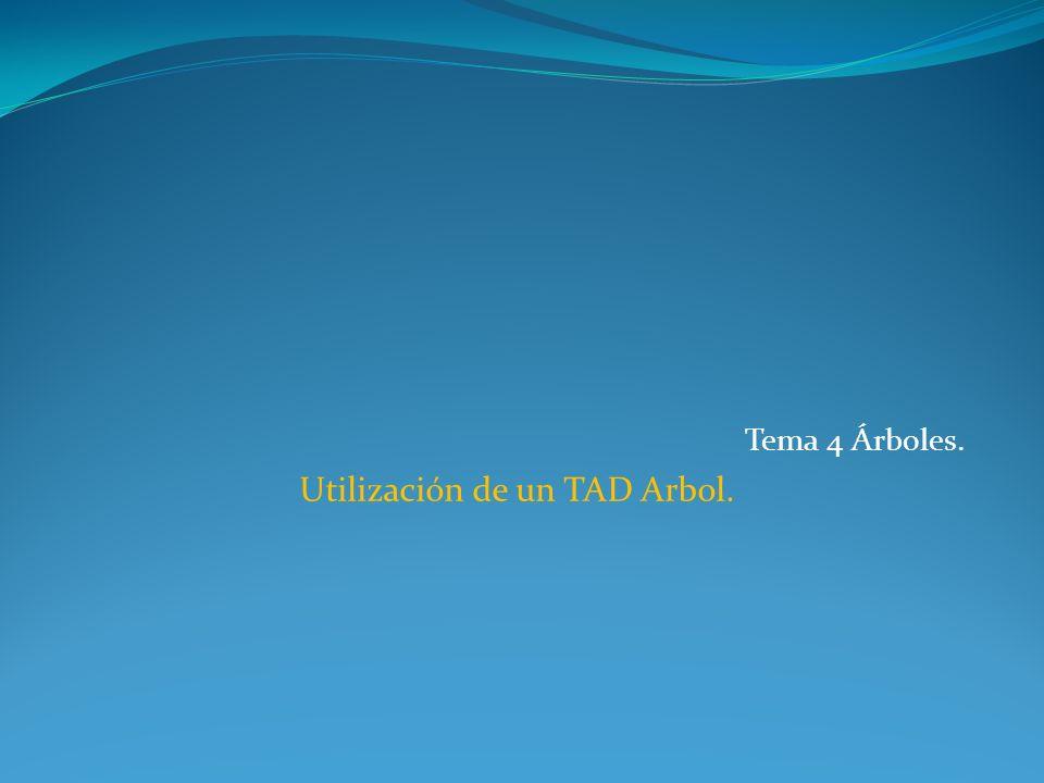 Uso del TAD ABB.