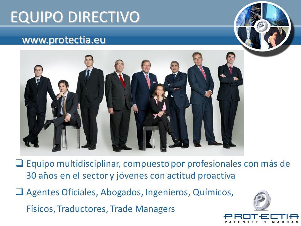 www.protectia.eu EQUIPO DIRECTIVO Equipo multidisciplinar, compuesto por profesionales con más de 30 años en el sector y jóvenes con actitud proactiva