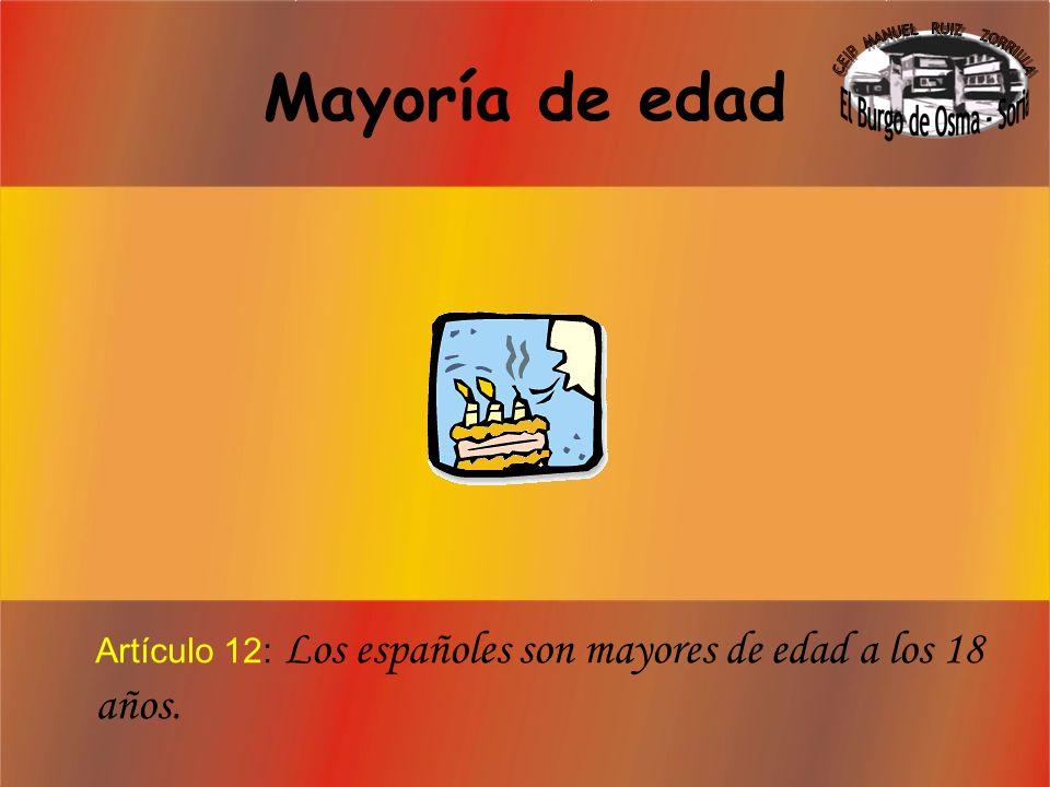 Derecho a la Nacionalidad Artículo 11: Cualquiera que nazca en España será español toda su vida.