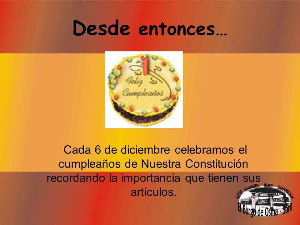 Allí decidieron… Que se aprobara el texto de la ley más importante del Estado Español.