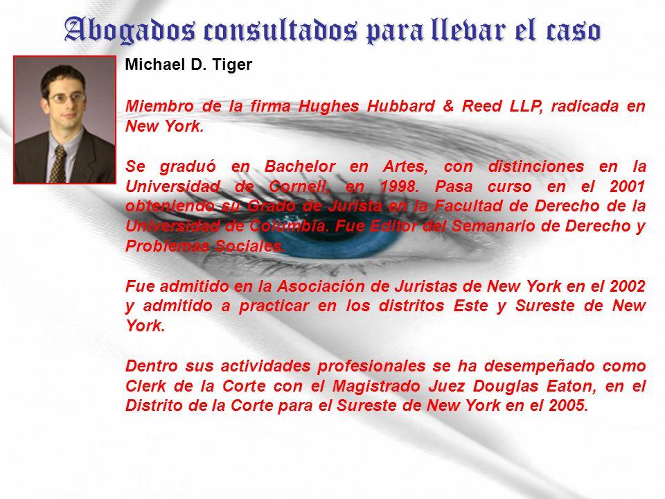 Abogados consultados para llevar el caso Michael D.