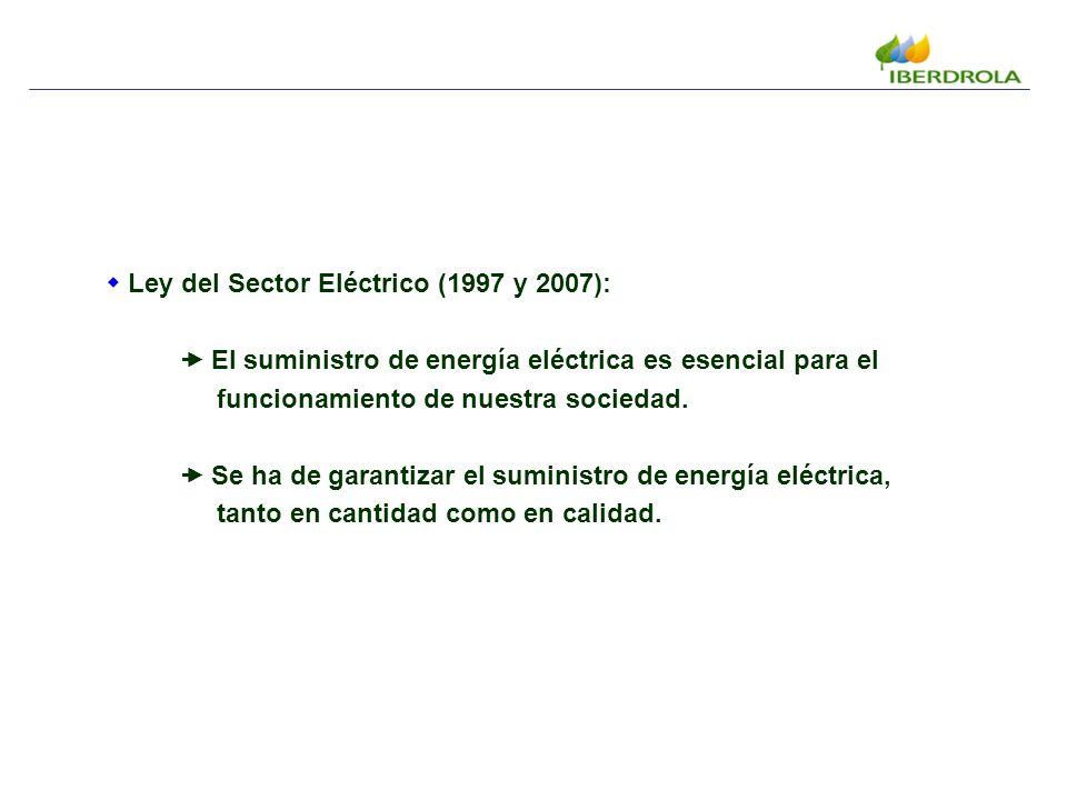 Ley del Sector Eléctrico (1997 y 2007): El suministro de energía eléctrica es esencial para el funcionamiento de nuestra sociedad.