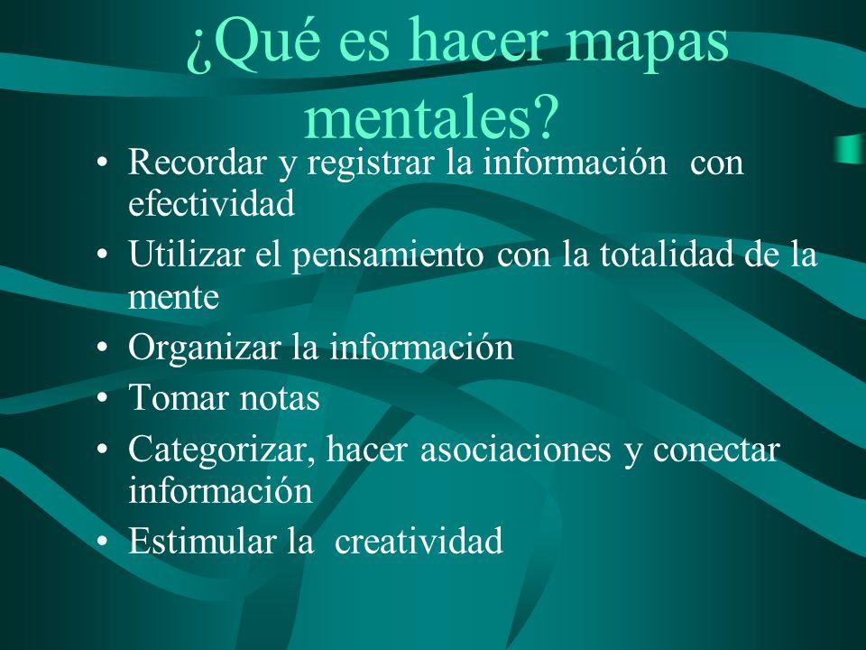 ¿Por qué usar mapas mentales.