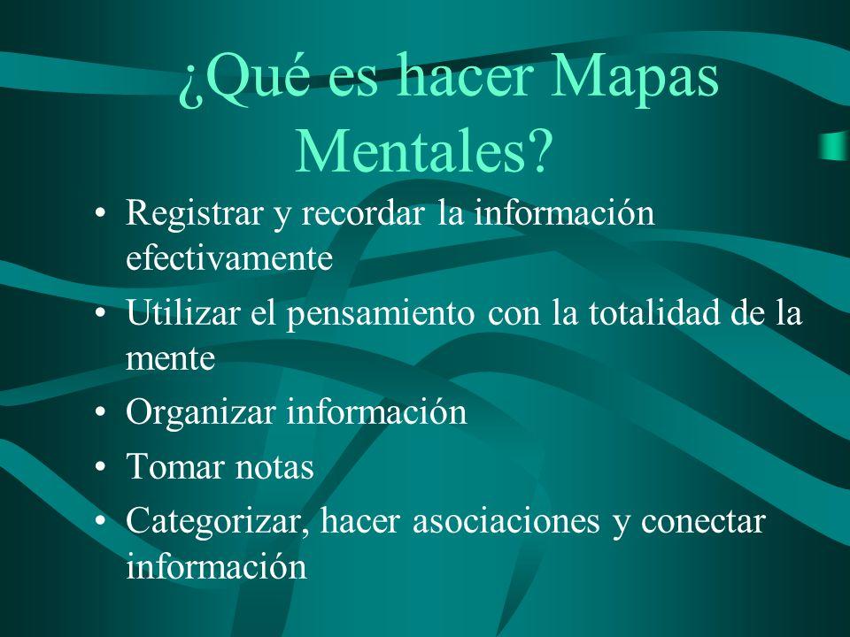 ¿Porqué usar Mapas Mentales? Activan las inteligencias múltiples