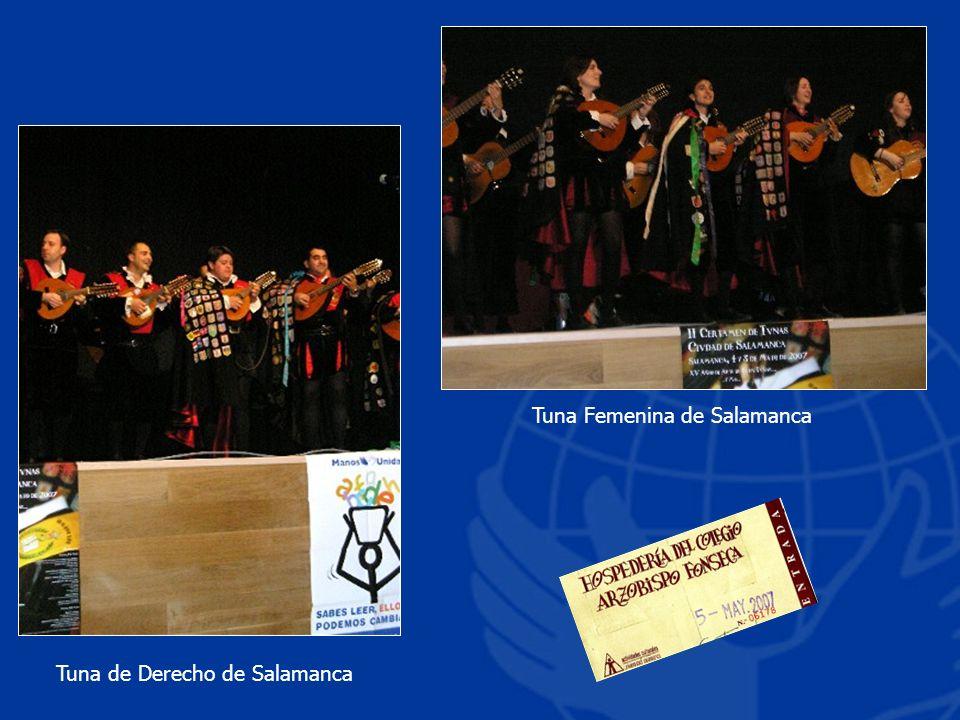 Tuna Femenina de Salamanca Tuna de Derecho de Salamanca