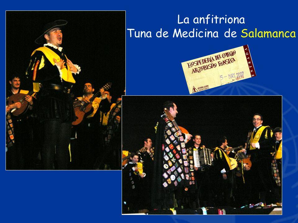 La anfitriona Tuna de Medicina de Salamanca