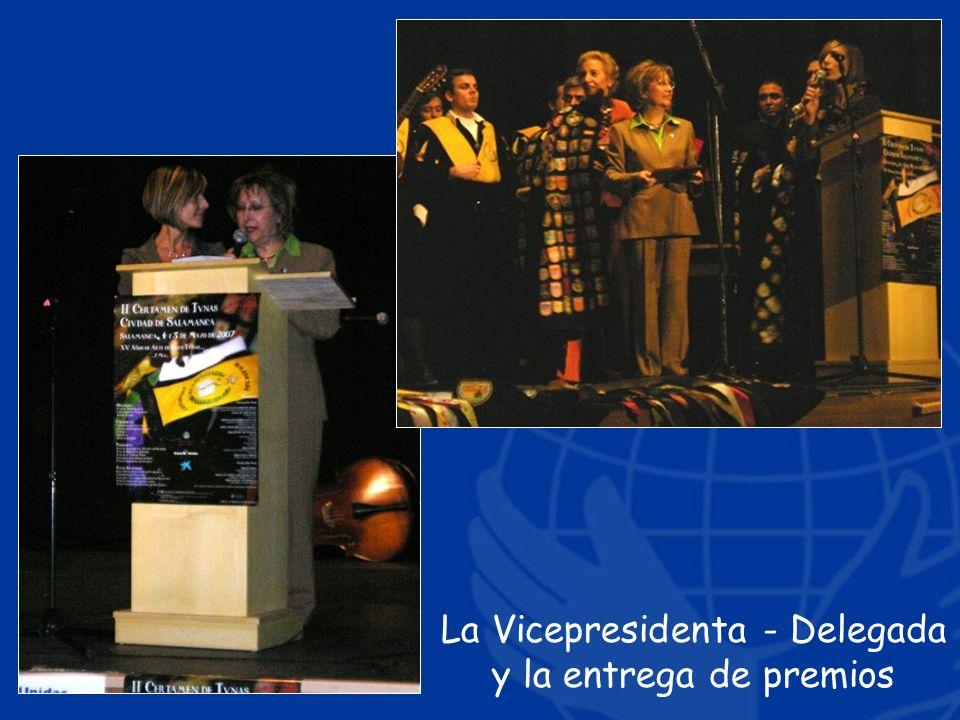La Vicepresidenta - Delegada y la entrega de premios