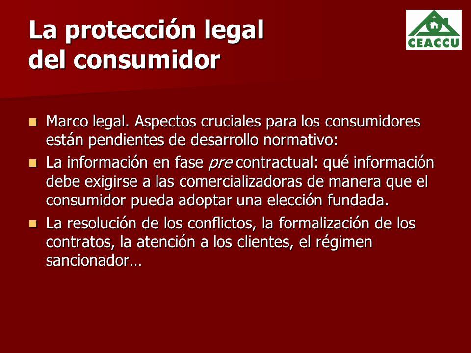La protección legal del consumidor Marco legal.