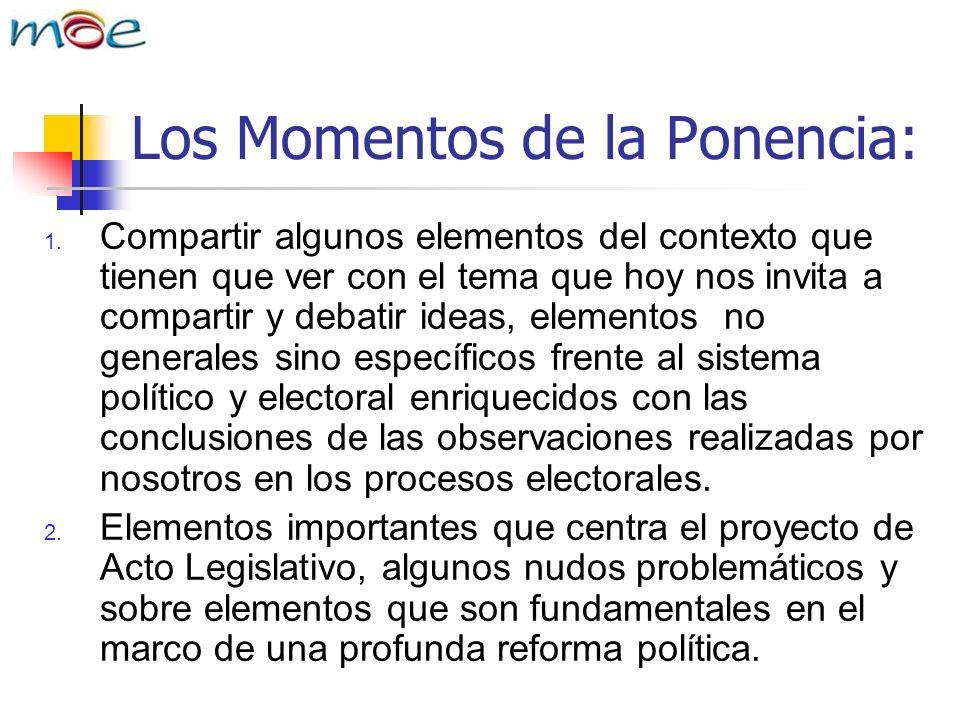 Los Momentos de la Ponencia: 1.