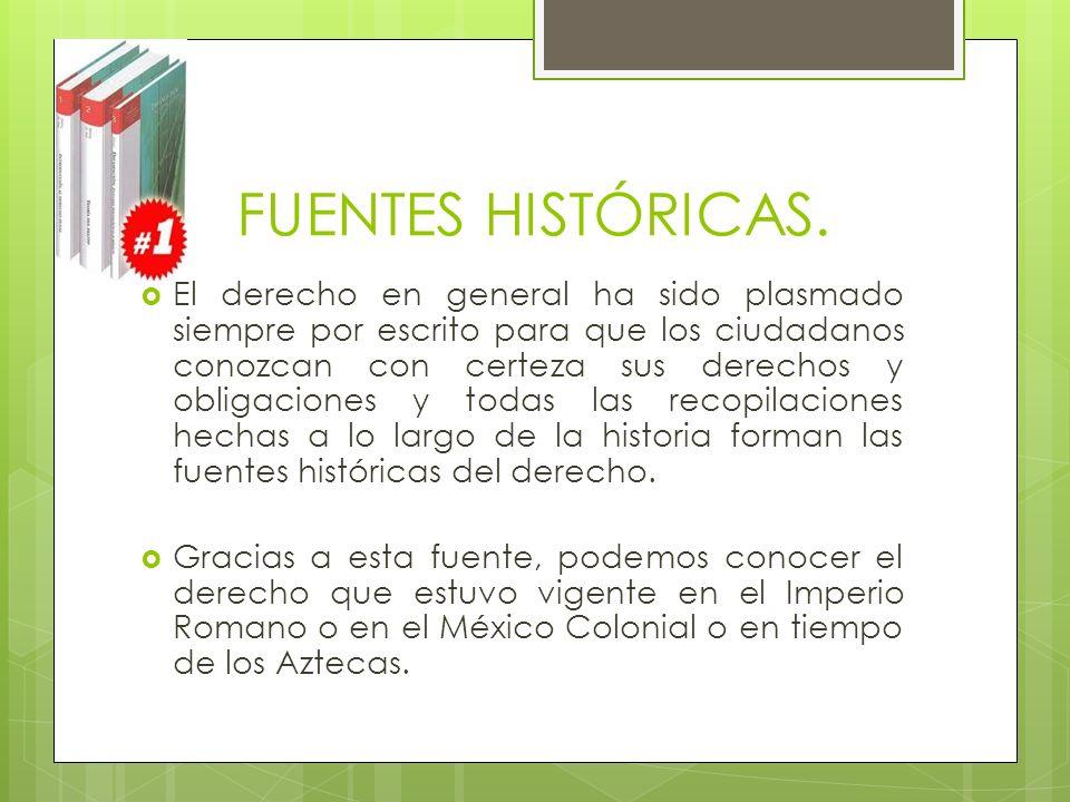 FUENTES HISTÓRICAS.