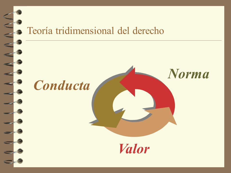 Teoría tridimensional del derecho Norma Valor Conducta
