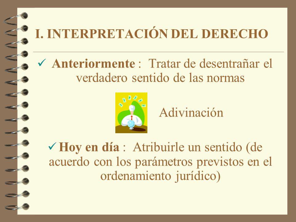 II.Integración del derecho II.II. Lagunas del ordenamiento jurídico y de las leyes 1.