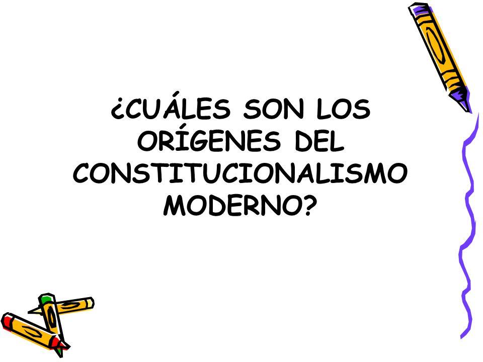 ¿CUÁLES SON LOS ORÍGENES DEL CONSTITUCIONALISMO MODERNO?